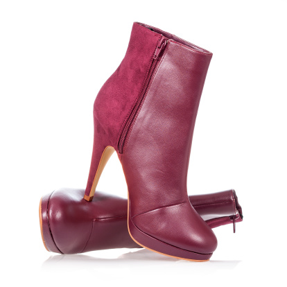Boot「High heels ankle boot in dark red」:スマホ壁紙(3)