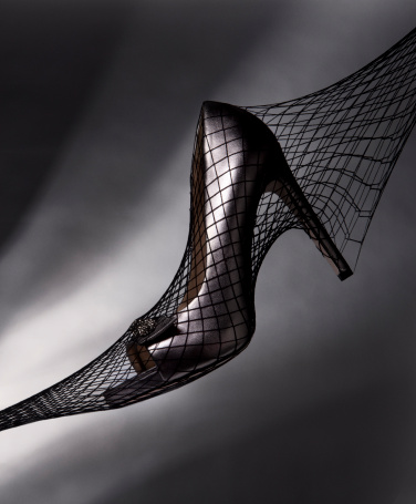 Hosiery「High heels inside black fishnet stockings」:スマホ壁紙(14)