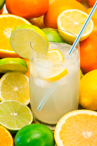 Lemon Soda「Fresh lemonade surrounded by fresh citrus fruit」:スマホ壁紙(1)