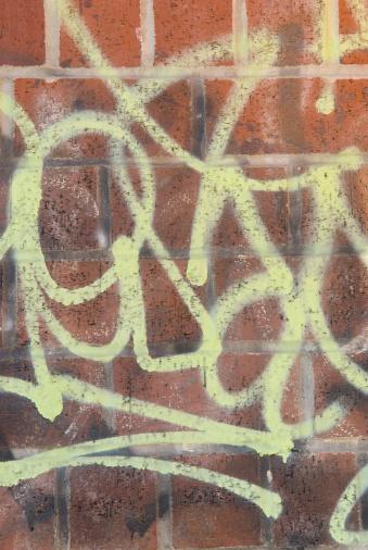 Avenue A「Graffiti Spray Painted on a Brick Wall」:スマホ壁紙(1)