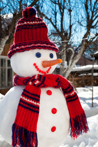 雪だるま「ハッピースノーマン」:スマホ壁紙(0)