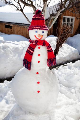 雪だるま「ハッピースノーマン」:スマホ壁紙(7)