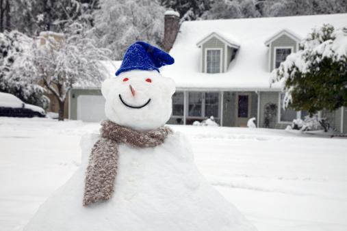 雪だるま「ハッピースノーマン」:スマホ壁紙(18)