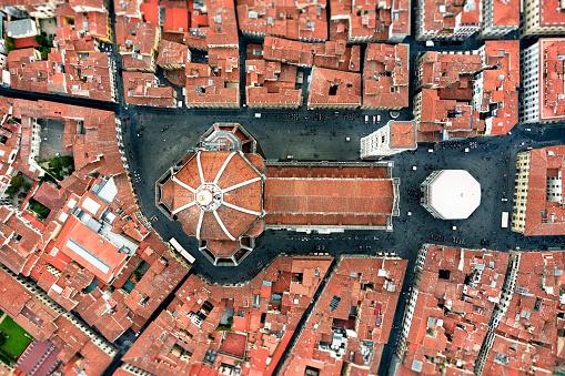 Cathedral「Duomo of Florence - Birds Eye View」:スマホ壁紙(9)