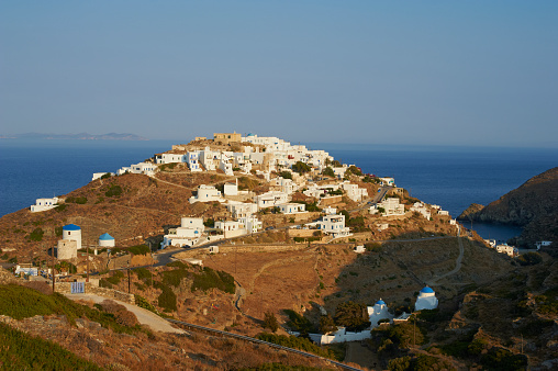 Aegean Sea「View of Kastro village, Sifnos, Cyclades, Greece」:スマホ壁紙(1)