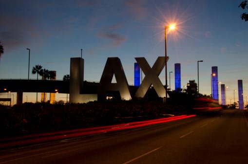 LAX Airport「LAX sign at sunset」:スマホ壁紙(13)
