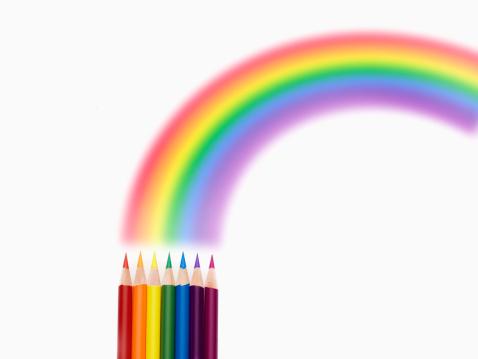 Seven prismatic colors「The colored pencil draws the rainbow.」:スマホ壁紙(0)