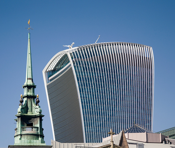 Skyscraper「Church And Skyscraper」:写真・画像(13)[壁紙.com]