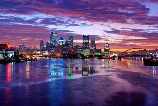 Pennsylvania「Pittsburgh Skyline at Night」:スマホ壁紙(10)
