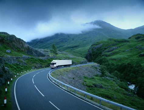 Layered「White lorry on road through rural landscape (Digital Composite)」:スマホ壁紙(6)