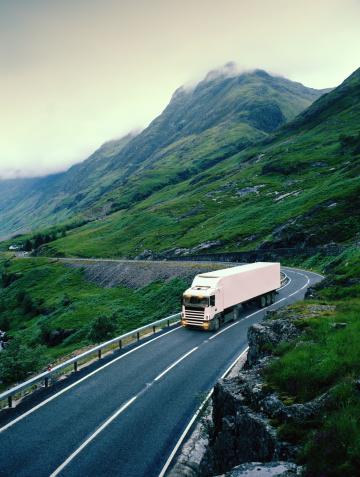 Road Marking「White lorry on road through rural landscape (Digital Enhancement)」:スマホ壁紙(16)