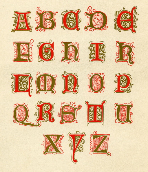 Alphabet「Fifteenth century illuminated alphabet」:写真・画像(12)[壁紙.com]