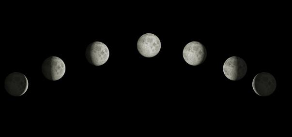 満ちていく月「Phases of the moon.」:スマホ壁紙(0)
