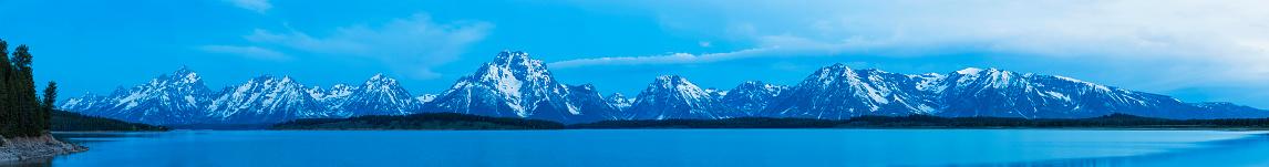 雪景色「USA, Wyoming, Grand Teton Nationalpark, Panorama」:スマホ壁紙(18)