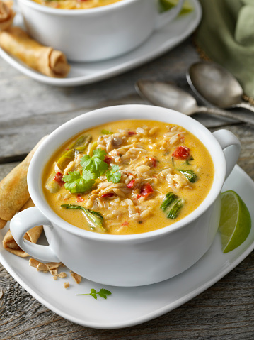 Basmati Rice「Creamy Thai, Chicken and Rice Soup with Spring Rolls」:スマホ壁紙(17)