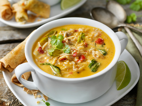 Jasmine Rice「Creamy Thai, Chicken and Rice Soup with Spring Rolls」:スマホ壁紙(16)