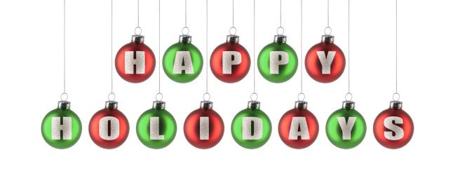 Glitter「Happy Holidays Ornaments」:スマホ壁紙(16)