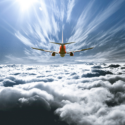 Digital Composite「Airplane flying above the clouds」:スマホ壁紙(10)