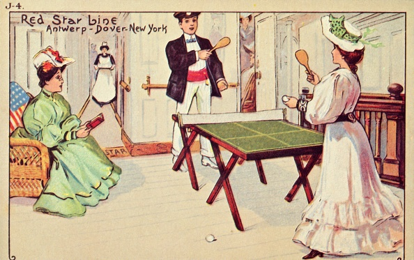 Passenger Craft「Table Tennis On Board A Red Star Line Passenger Ship」:写真・画像(13)[壁紙.com]
