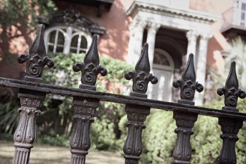 Fleur De Lys「Wrought iron fence close-up outside a nice house」:スマホ壁紙(8)