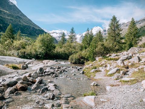 Engadin Valley「Morteratsch Glacier」:スマホ壁紙(17)