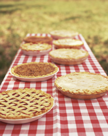 Picnic Table「Assorted Pies on Picnic Table」:スマホ壁紙(9)