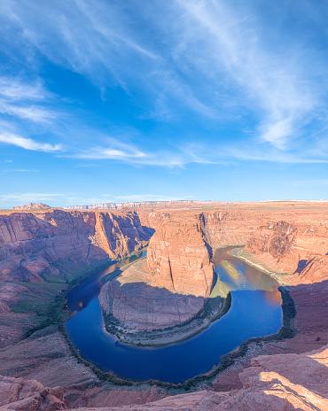 アメリカ合州国「アリゾナ州ページの市に近い馬蹄とコロラド川」:スマホ壁紙(4)
