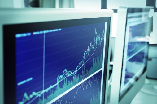 セレクティブフォーカス「Online Stock Trading」:スマホ壁紙(18)