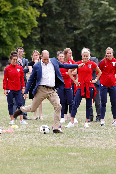 Tristan Fewings「The Duke Of Cambridge Hosts A Good Luck Send Off For The England Women Football Team」:写真・画像(6)[壁紙.com]