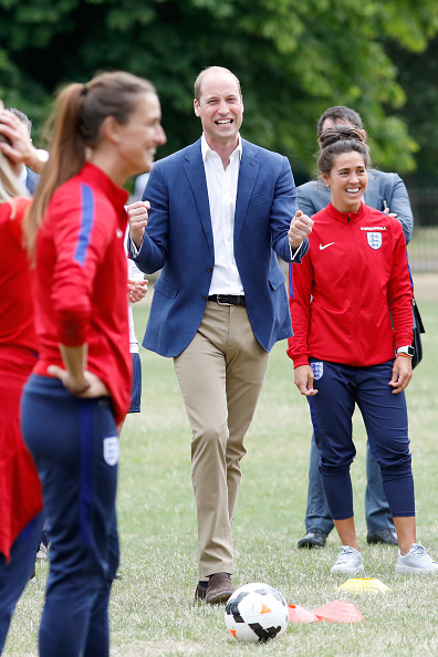 Tristan Fewings「The Duke Of Cambridge Hosts A Good Luck Send Off For The England Women Football Team」:写真・画像(8)[壁紙.com]
