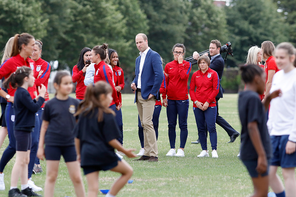 Tristan Fewings「The Duke Of Cambridge Hosts A Good Luck Send Off For The England Women Football Team」:写真・画像(4)[壁紙.com]