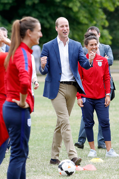 Tristan Fewings「The Duke Of Cambridge Hosts A Good Luck Send Off For The England Women Football Team」:写真・画像(7)[壁紙.com]