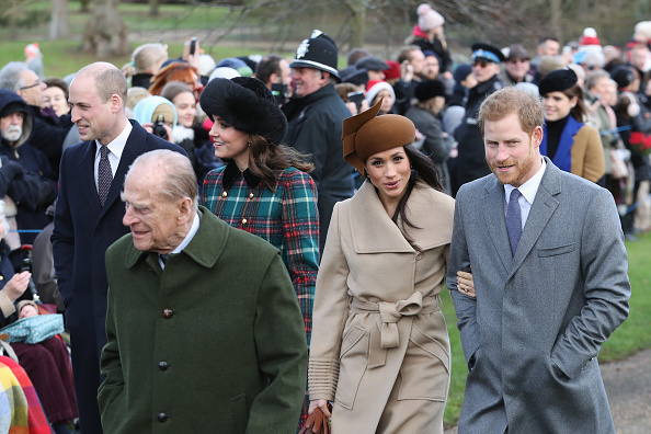 Medium Group Of People「Members Of The Royal Family Attend St Mary Magdalene Church In Sandringham」:写真・画像(13)[壁紙.com]