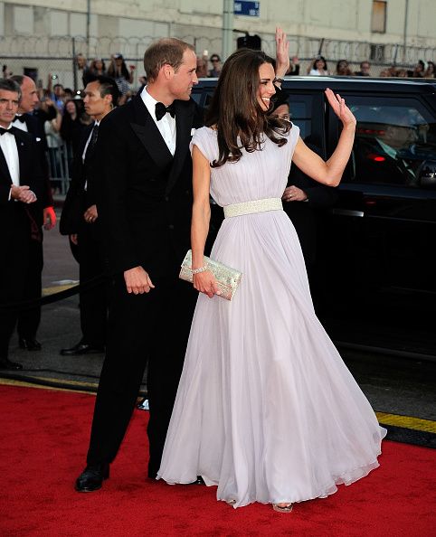 Sarah Burton for Alexander McQueen「The Duke and Duchess of Cambridge Attend BAFTA Brits To Watch Event」:写真・画像(9)[壁紙.com]