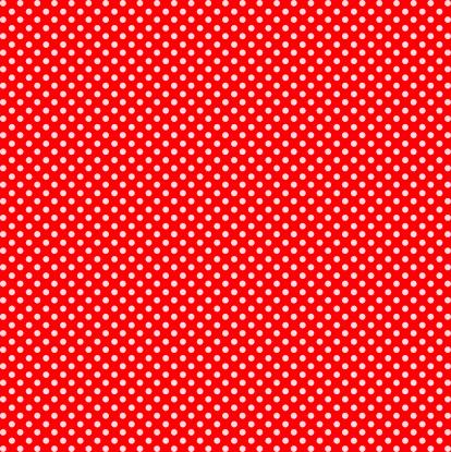 水玉「レッドとホワイトのドット」:スマホ壁紙(6)