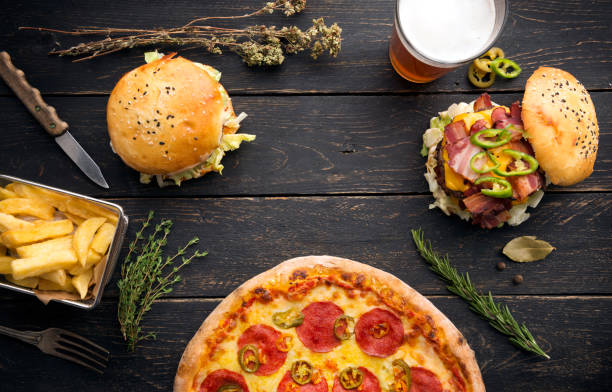 burgers with herbs and vegetables:スマホ壁紙(壁紙.com)