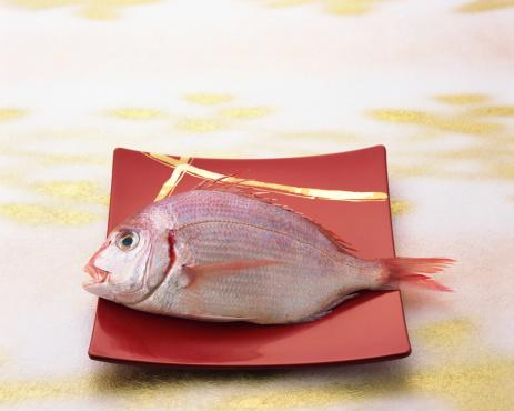 おせち「Uncooked red sea bream」:スマホ壁紙(19)