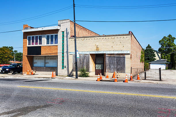 Law offices and boarded up shop, Mount Greenwood, Chicago:スマホ壁紙(壁紙.com)