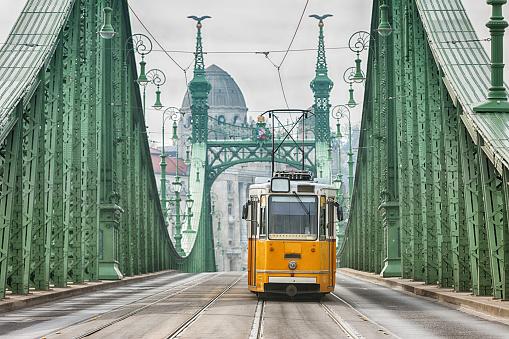 Cable Car「Vintage Cable Car on Liberty Bridge」:スマホ壁紙(2)