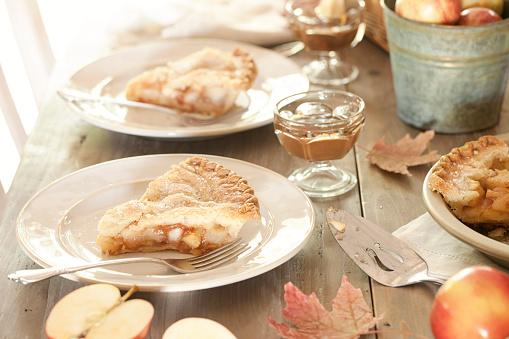 Maple Leaf「Apple Pie Dessert with Caramel」:スマホ壁紙(15)