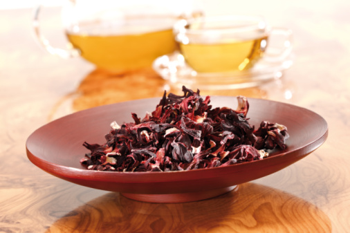 Dried Food「Hibiscus flower tea, close-up」:スマホ壁紙(7)