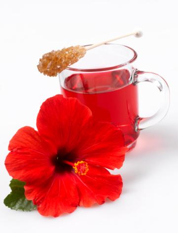ハイビスカス「Hibiscus flower tea and hibiscus flower, close-up」:スマホ壁紙(15)
