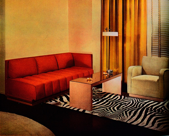 Rug「'A corner in the American designer Walter Dorwin Teague's own Living-room', c1940. Artist: Unknown.」:写真・画像(15)[壁紙.com]