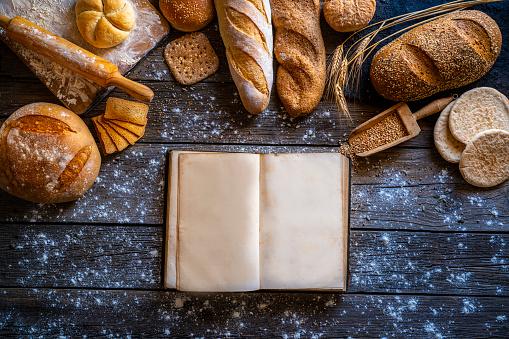 Loaf of Bread「Bread recipe book bakery open blank page」:スマホ壁紙(6)