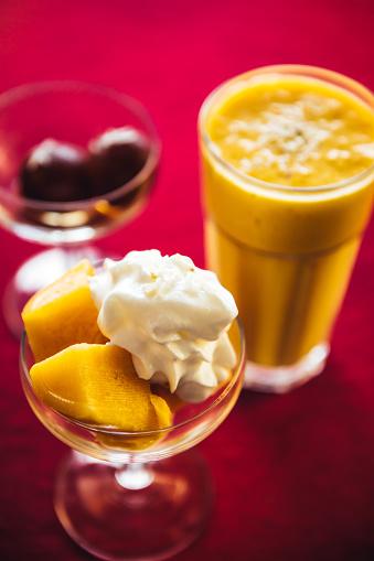 Punjab - India「Gulab jamun, mango kulfi and lassi. North Indian food and desserts」:スマホ壁紙(15)
