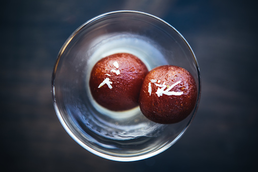 North Indian Food「Gulab jamun view from above. North Indian food and desserts」:スマホ壁紙(19)