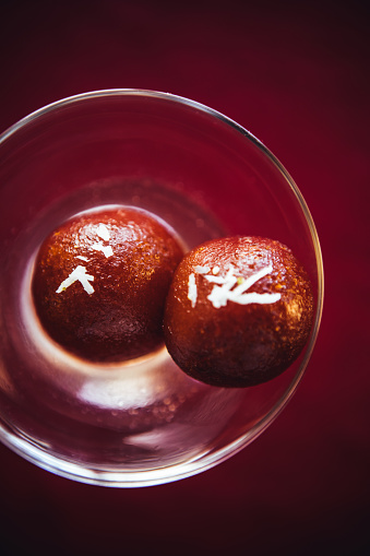 North Indian Food「Gulab jamun view from above. North Indian food and desserts」:スマホ壁紙(14)