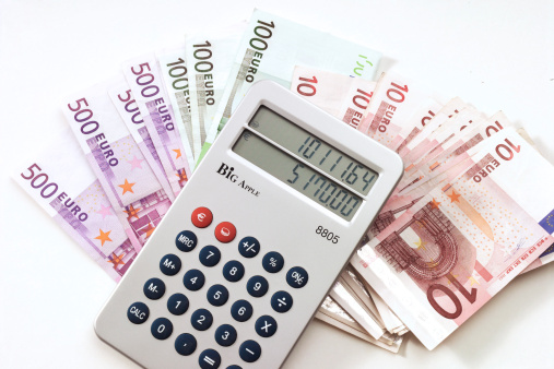 Receiving「Calculator on euro notes」:スマホ壁紙(0)