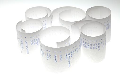ファイナンス「カルキュレーターテープ」:スマホ壁紙(19)