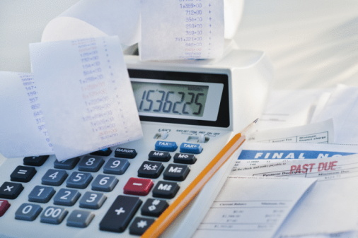 Accountancy「Calculator and bills」:スマホ壁紙(16)
